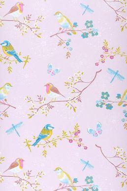Wallpaper Audrey pale pink Roll Width