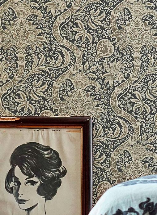 Classic wallpaper Wallpaper Primrose beige Room View