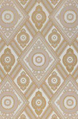 Papier peint William gris beige clair Détail A4