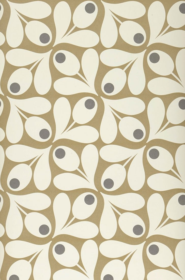 Loki khaki dark grey oyster white i love the 70s wallpaper patterns - Papier peint vintage 70 ...
