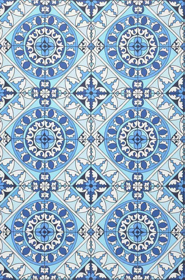 tapete borromeo blau dunkelblau hellblau weiss tapeten der 70er. Black Bedroom Furniture Sets. Home Design Ideas