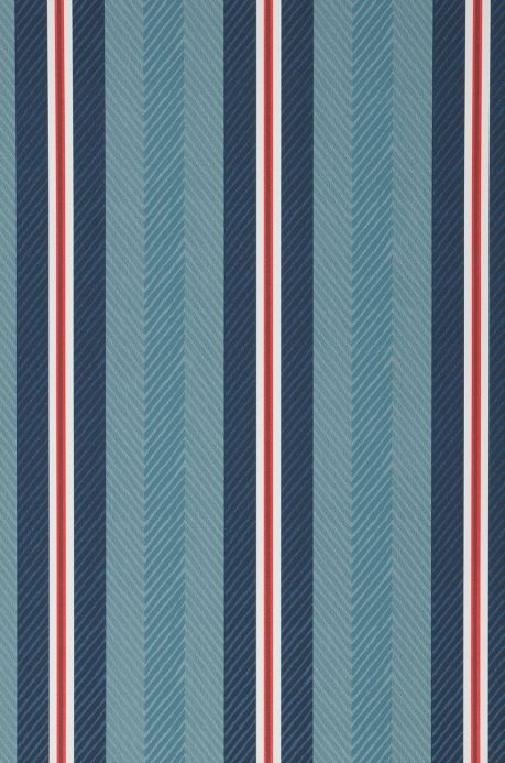 Striped Wallpaper Wallpaper Stellar shades of blue A4 Detail