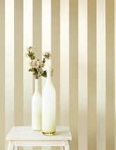Wallpaper Mariza Metallic effect Stripes Gold shimmer Olive yellow