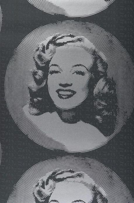 Archiv Carta da parati Movie Maiden grigio scuro Larghezza rotolo