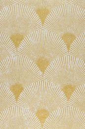 Papel pintado Helene oro perla