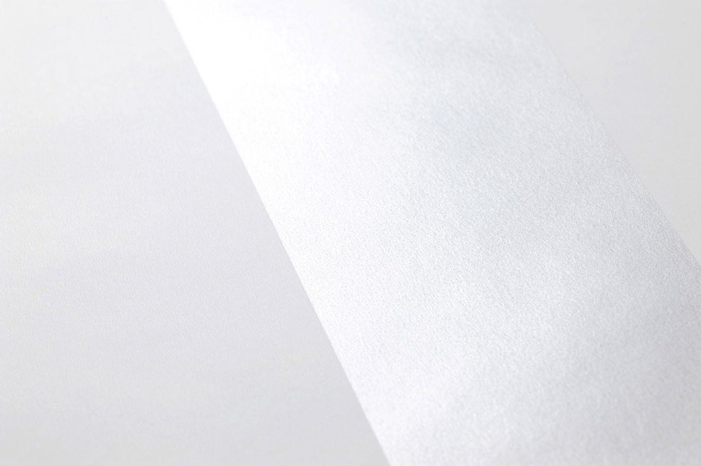 Papel pintado zuleika plata brillante blanco papeles for Papel pintado de los 70