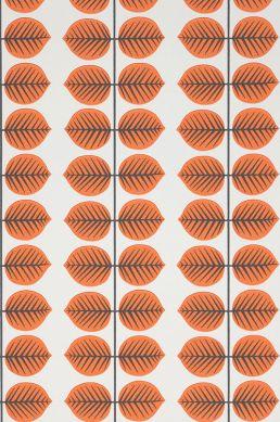 Papel pintado Leonarda naranja Detalle A4