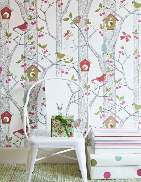 Modern Wallpaper Wallpaper Emma green Room View