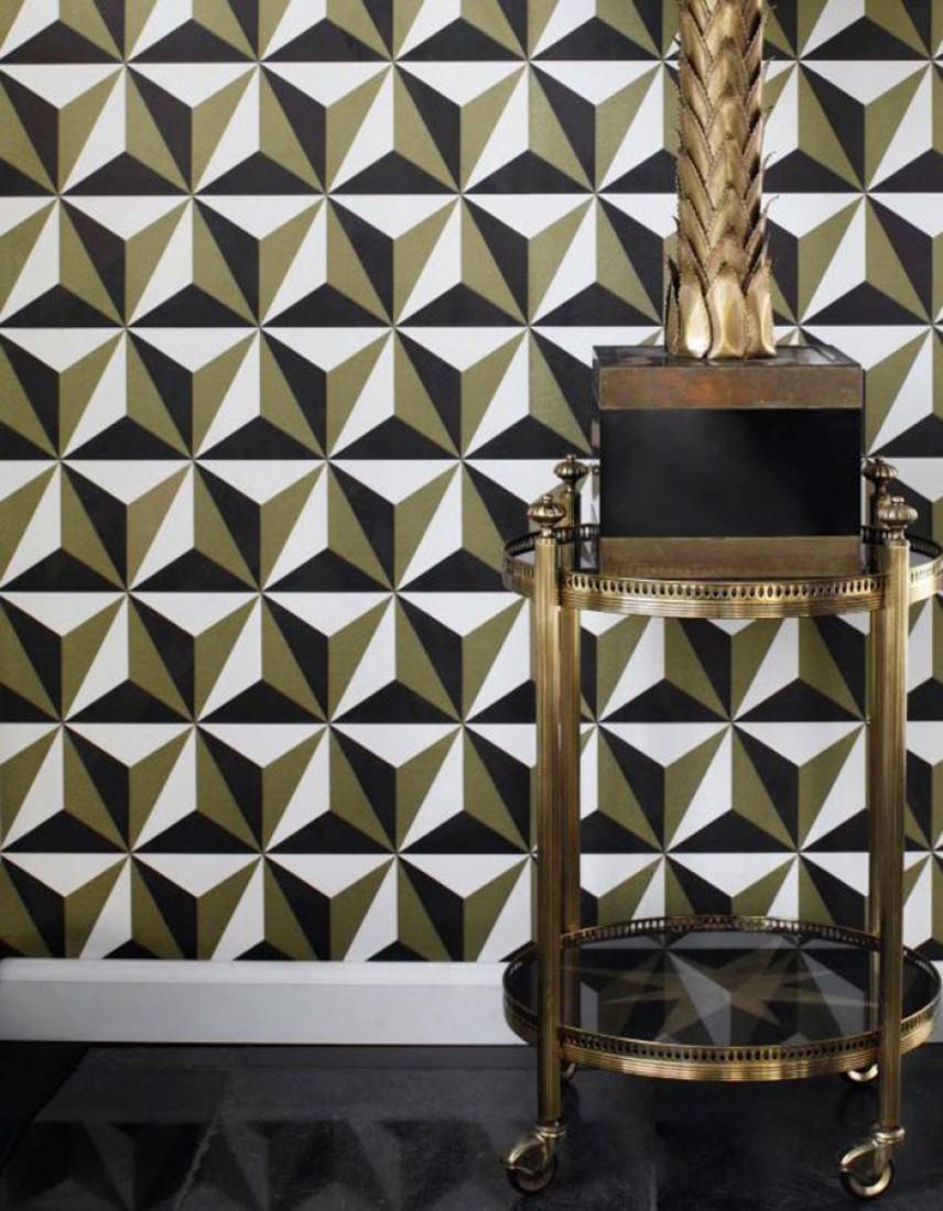 tapete limal perlgold schwarz weiss tapeten der 70er. Black Bedroom Furniture Sets. Home Design Ideas