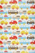 Wallpaper Bruno Matt Cars White Beige Yellow green Light blue Red Sepia brown