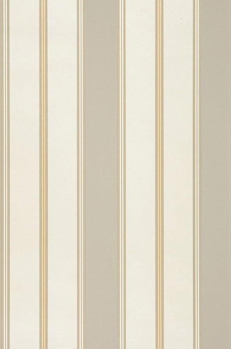 Wallpaper Tatex Matt Looks like textile Stripes Cream Beige Gold Grey