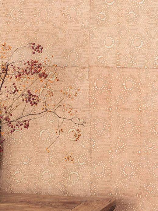 Papier peint de Le Monde Sauvage Papier peint Mawe beige brun Vue pièce