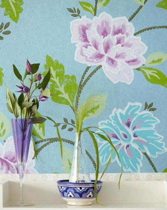 Archiv Wallpaper Forseti pale violet Room View