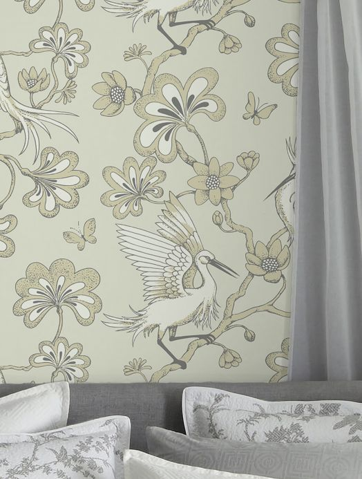 Floral Wallpaper Wallpaper Malacca ivory Room View