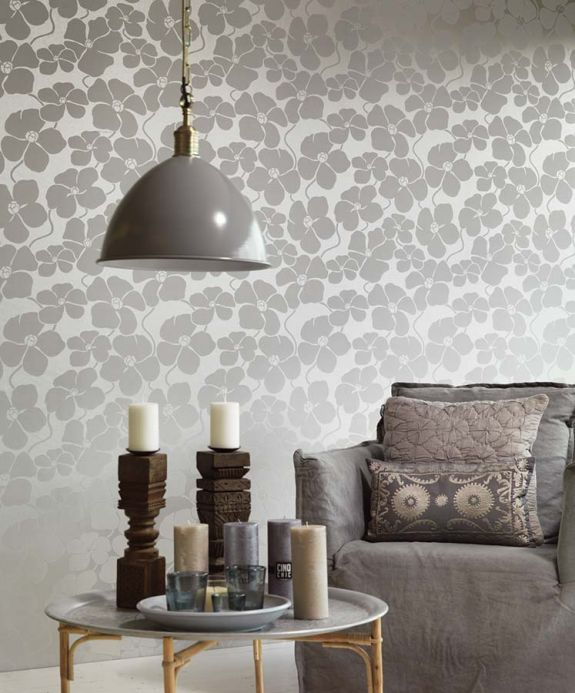 Archiv Wallpaper Marici light grey Room View
