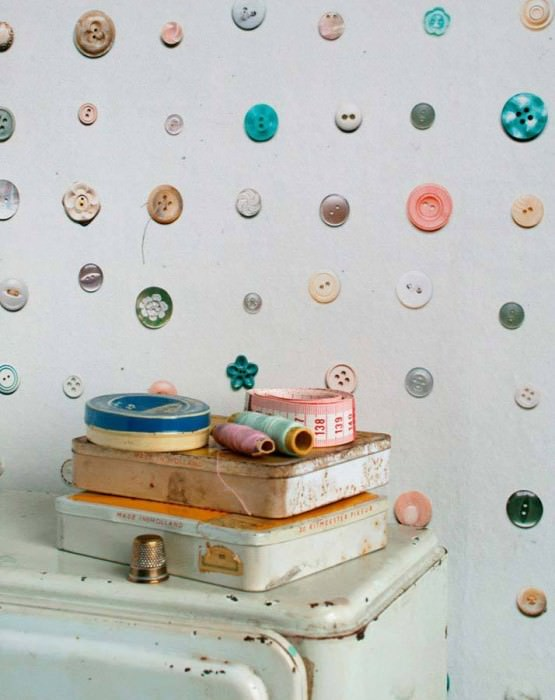 Wallpaper Button Matt Buttons Light grey white Pale orange Oyster white Rosewood Turquoise