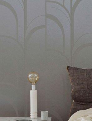 Papel de parede Arches cinza platina Ver quarto