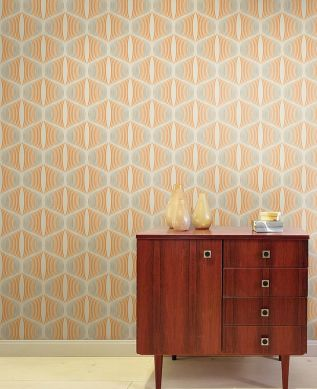 Papel pintado Morena naranja Ver habitación