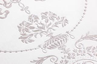 Papel pintado Rabia Brillante Damasco barroco Blanco crema