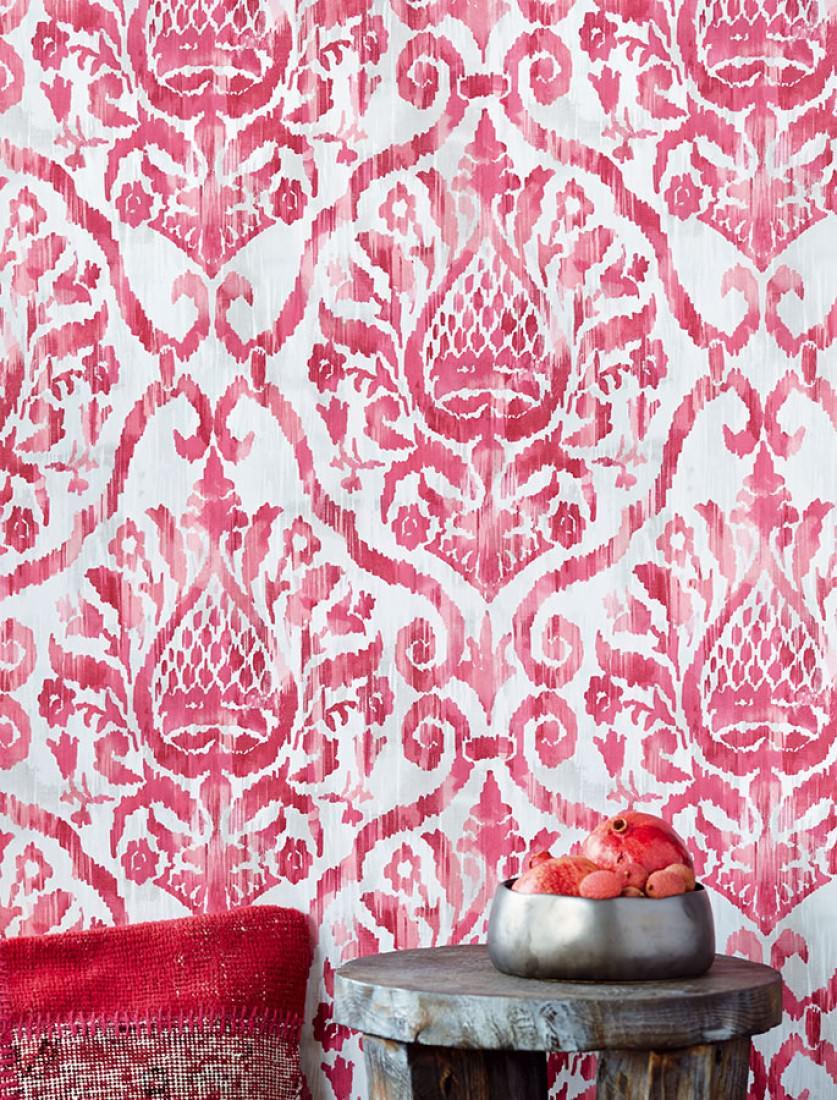 tapete esiko cremeweiss hellgraubeige bordeaux hellrosa rotviolett tapeten der 70er. Black Bedroom Furniture Sets. Home Design Ideas