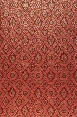 Papier peint William rouge oriental Largeur de lé