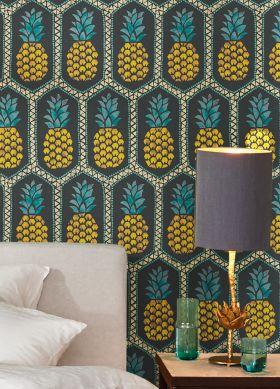 Papel de parede Polly amarelo alaranjado Ver quarto