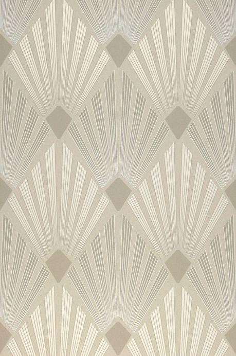 Carta da parati classica Carta da parati Pontinius grigio beige chiaro  Larghezza rotolo