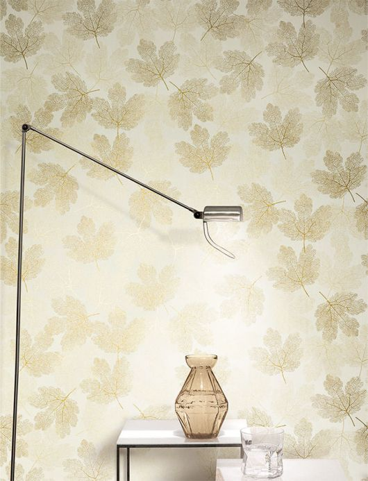 Archiv Wallpaper Gobetti pearl gold Room View