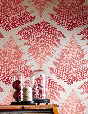 Papel de parede Mikura vermelho Ver quarto