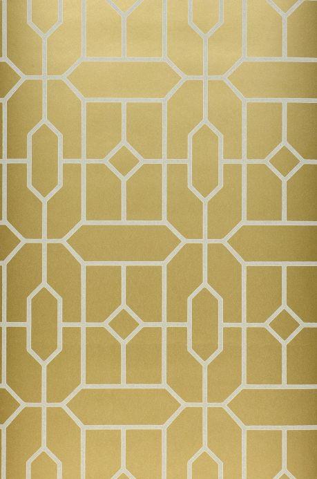 Geometric wallpaper Wallpaper Worana pearl gold Roll Width