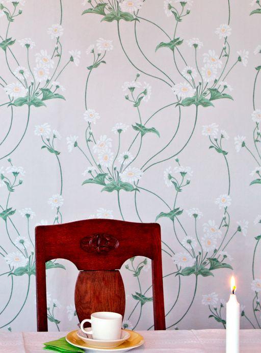 Papel de parede Papel de parede Desiree verde cana Ver quarto