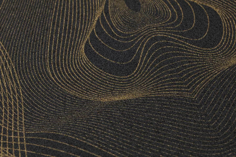 Papel pintado matuta antracita oro brillante papeles for Papel pintado de los 70