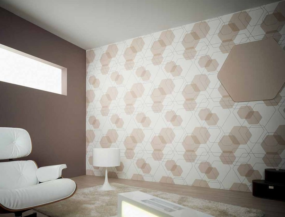 Wallpaper Nolan Matt Retro elements White Beige Grey