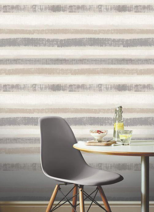 Archiv Papier peint Zitor gris beige Vue pièce