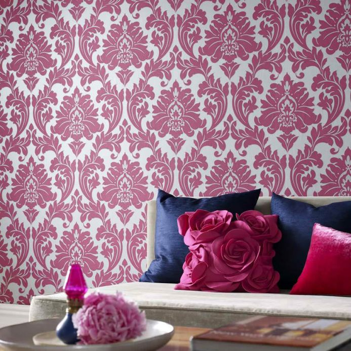 Archiv Wallpaper Samanta pink Room View