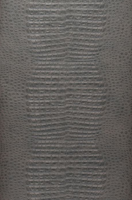 Archiv Wallpaper Gavial black grey Roll Width