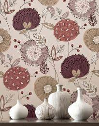 Papel de parede Eunonia violeta avermelhado pálido
