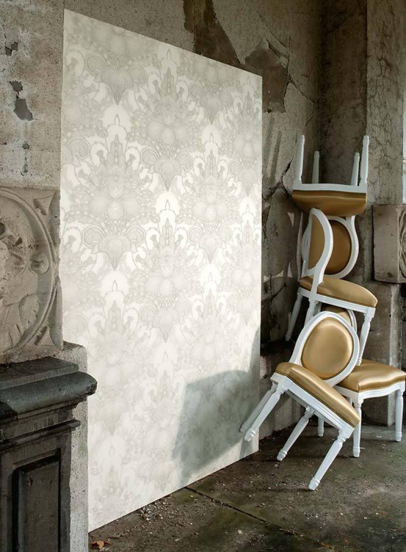 tapete malsumi cremeweiss hellbeigegrau tapeten der 70er. Black Bedroom Furniture Sets. Home Design Ideas