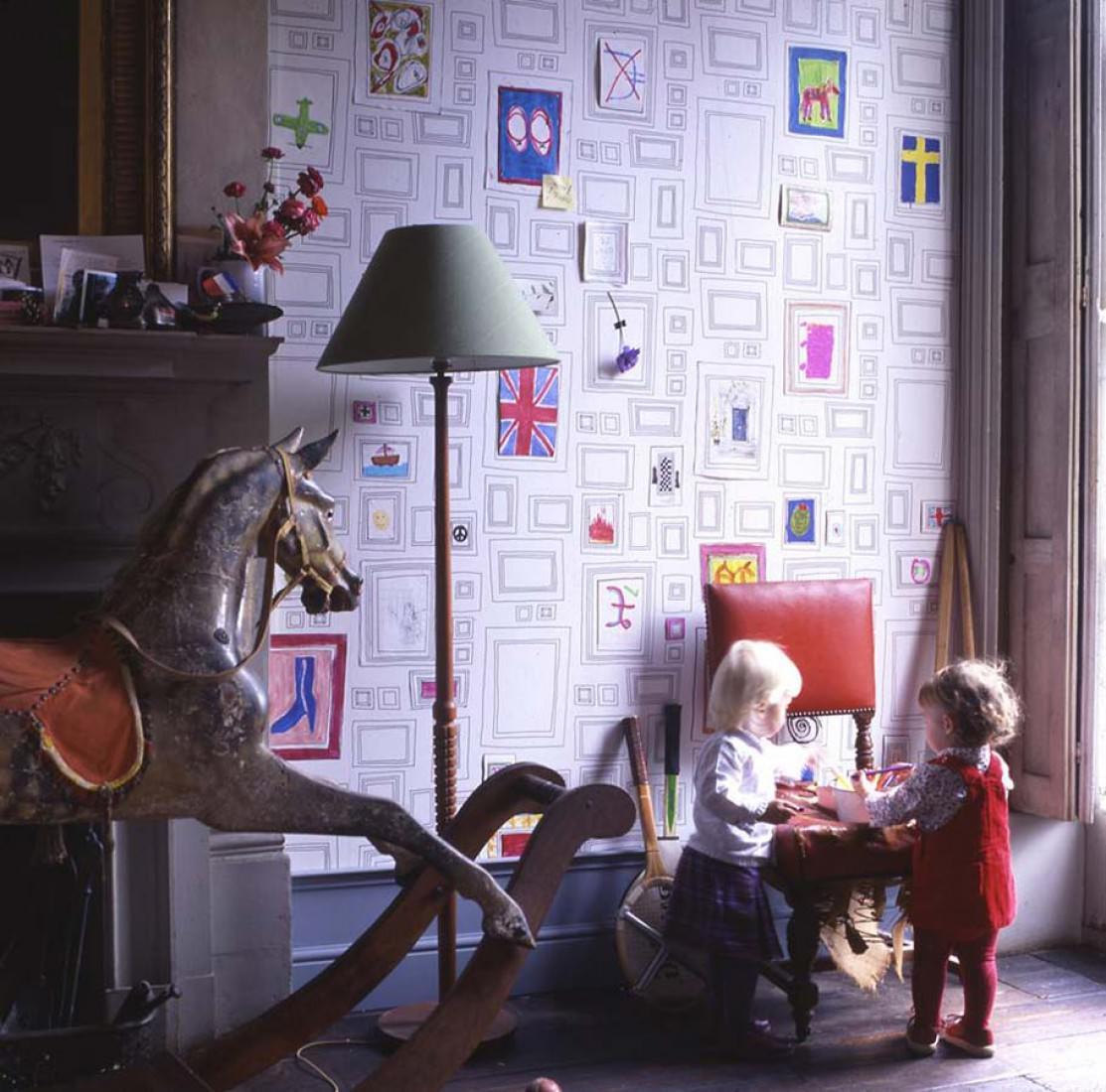 Tapete Frames (Weiss, Schwarz) | Tapeten der 70er