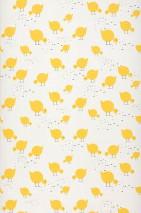 Papel de parede Pitta Mate Pintinhos fofinhos Branco creme Amarelo Preto