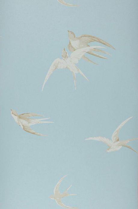 Papier peint campagne Papier peint Izanami bleu gris clair Largeur de lé