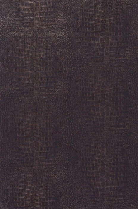 Wallpaper Alligator Matt Imitation leather Bronze Black brown