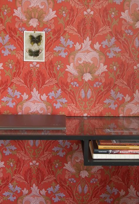 Classic Wallpaper Wallpaper Denisa red Room View