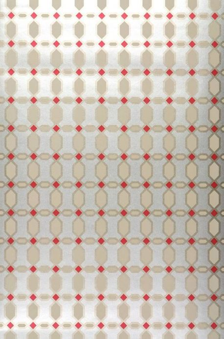 Archiv Wallpaper Diamonds red Roll Width