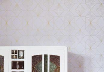 Papel pintado Maurus gris blancuzco