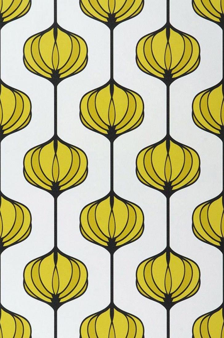 papier peint maude blanc jaune vert noir papier peint des ann es 70. Black Bedroom Furniture Sets. Home Design Ideas