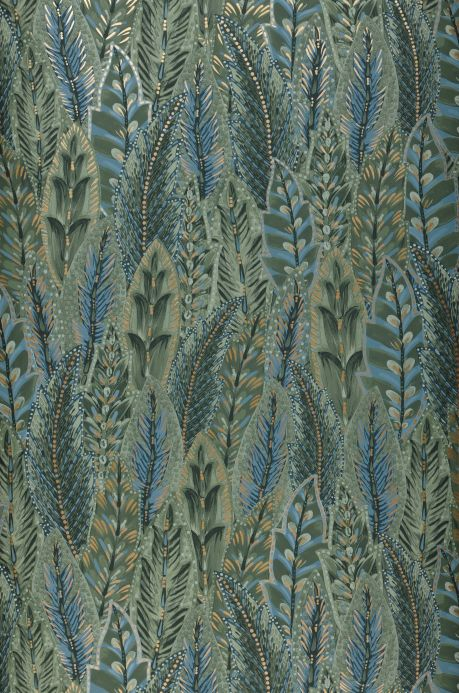 Botanical Wallpaper Wallpaper Malu shades of green Bahnbreite