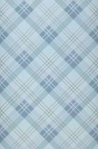 Wallpaper Arristo Matt Plaid Blue grey Mint grey Pastel grey blue Pearl gold