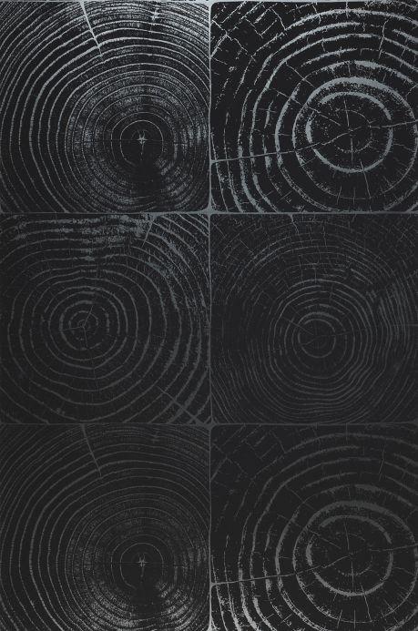 Papier peint bois Papier peint Nahum gris noir Largeur de lé