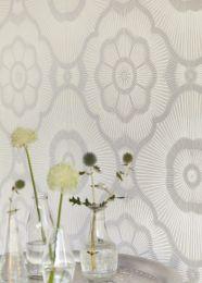 Papel de parede Riverana branco creme brilhante